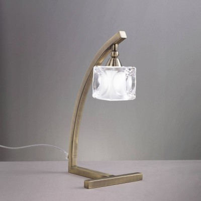 Светильник Mantra 1104 CUADRAXСовременные настольные лампы модерн<br><br><br>Тип лампы: галогенная<br>Тип цоколя: G9<br>Цвет арматуры: бронзовый античный<br>Количество ламп: 1<br>Размеры: W 150 H 350<br>Длина, мм: 150<br>Высота, мм: 350<br>MAX мощность ламп, Вт: 40W