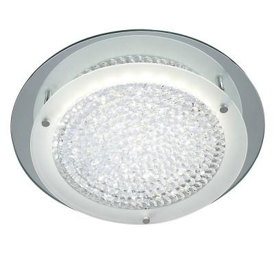 Потолочный светильник Mantra 5091 CRYSTALхрустальные потолочные люстры<br>Компания «Светодом» предлагает широкий ассортимент люстр от известных производителей. Представленные в нашем каталоге товары выполнены из современных материалов и обладают отличным качеством. Благодаря широкому ассортименту Вы сможете найти у нас люстру под любой интерьер. Мы предлагаем как классические варианты, так и современные модели, отличающиеся лаконичностью и простотой форм.  Стильная люстра Mantra 5091 станет украшением любого дома. Эта модель от известного производителя не оставит равнодушным ценителей красивых и оригинальных предметов интерьера. Люстра Mantra 5091 обеспечит равномерное распределение света по всей комнате. При выборе обратите внимание на характеристики, позволяющие приобрести наиболее подходящую модель. Купить понравившуюся люстру по доступной цене Вы можете в интернет-магазине «Светодом».<br><br>Установка на натяжной потолок: Да<br>S освещ. до, м2: 7<br>Цветовая t, К: 4000<br>Тип лампы: LED<br>Тип цоколя: LED<br>Цвет арматуры: серебристый хром<br>Количество ламп: 1<br>Диаметр, мм мм: 360<br>Высота, мм: 75<br>MAX мощность ламп, Вт: 18
