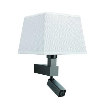Настенный светильник бра Mantra 5233+5239 BAHIAсовременные бра модерн<br><br><br>Тип цоколя: E27/LED<br>Цвет арматуры: коричневый<br>Количество ламп: 2<br>Ширина, мм: 200<br>Расстояние от стены, мм: 215<br>Высота, мм: 334