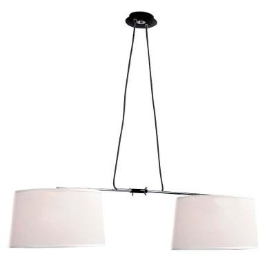 Люстра Mantra 5307+5308 HABANAподвесные светильники на 2 лампы<br>Подвесной светильник – это универсальный вариант, подходящий для любой комнаты. Сегодня производители предлагают огромный выбор таких моделей по самым разным ценам. В каталоге интернет-магазина «Светодом» мы собрали большое количество интересных и оригинальных светильников по выгодной стоимости. Вы можете приобрести их в Москве, Екатеринбурге и любом другом городе России.  Подвесной светильник Mantra 5307+5308 сразу же привлечет внимание Ваших гостей благодаря стильному исполнению. Благородный дизайн позволит использовать эту модель практически в любом интерьере. Она обеспечит достаточно света и при этом легко монтируется. Чтобы купить подвесной светильник Mantra 5307+5308, воспользуйтесь формой на нашем сайте или позвоните менеджерам интернет-магазина.<br><br>Тип лампы: Накаливания / энергосбережения / светодиодная<br>Тип цоколя: E27<br>Цвет арматуры: черный / серебристый хром<br>Количество ламп: 2<br>Ширина, мм: 370<br>Длина, мм: 740 - 1000<br>Высота, мм: 500 - 1500