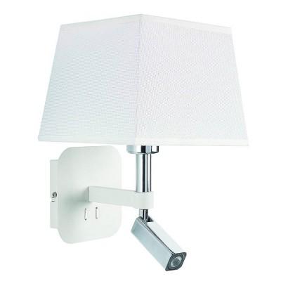 Настенный светильник бра Mantra 5316+5239 HABANAСовременные<br><br><br>Тип цоколя: E27/LED<br>Цвет арматуры: белый<br>Количество ламп: 2<br>Ширина, мм: 200<br>Расстояние от стены, мм: 235<br>Высота, мм: 366