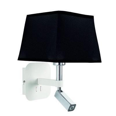 Настенный светильник бра Mantra 5316+5240 HABANAсовременные бра модерн<br><br><br>Тип цоколя: E27/LED<br>Цвет арматуры: белый<br>Количество ламп: 2<br>Ширина, мм: 200<br>Расстояние от стены, мм: 235<br>Высота, мм: 366