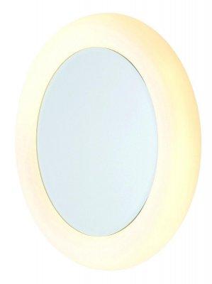 Светильник настенный MarkSlojd 100004 SVEGЗеркало с подсветкой <br><br><br>S освещ. до, м2: 5<br>Тип лампы: накаливания / энергосбережения / LED-светодиодная<br>Тип цоколя: E27<br>Количество ламп: 2<br>Ширина, мм: 430<br>MAX мощность ламп, Вт: 40<br>Длина, мм: 100<br>Высота, мм: 430<br>Цвет арматуры: белый