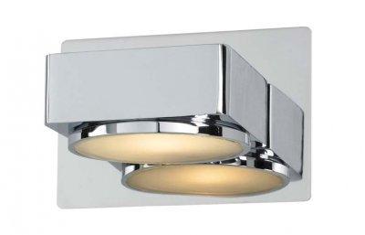 Светильник настенный MarkSlojd 100006 MELLERUDДля ванной<br><br><br>S освещ. до, м2: 2<br>Тип лампы: галогенная / LED-светодиодная<br>Тип цоколя: G9<br>Цвет арматуры: серебристый<br>Количество ламп: 1<br>Ширина, мм: 120<br>Длина, мм: 105<br>Высота, мм: 80<br>MAX мощность ламп, Вт: 40