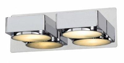 Светильник настенный MarkSlojd 100008 MELLERUDбра для ванной<br><br><br>S освещ. до, м2: 5<br>Тип лампы: галогенная / LED-светодиодная<br>Тип цоколя: G9<br>Цвет арматуры: серебристый<br>Количество ламп: 2<br>Ширина, мм: 220<br>Длина, мм: 105<br>Высота, мм: 80<br>MAX мощность ламп, Вт: 40