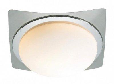 Светильник настенно-потолочный MarkSlojd 100197 TROSAКвадратные<br>Настенно-потолочные светильники – это универсальные осветительные варианты, которые подходят для вертикального и горизонтального монтажа. В интернет-магазине «Светодом» Вы можете приобрести подобные модели по выгодной стоимости. В нашем каталоге представлены как бюджетные варианты, так и эксклюзивные изделия от производителей, которые уже давно заслужили доверие дизайнеров и простых покупателей.  Настенно-потолочный светильник MarkSlojd 100197 станет прекрасным дополнением к основному освещению. Благодаря качественному исполнению и применению современных технологий при производстве эта модель будет радовать Вас своим привлекательным внешним видом долгое время. Приобрести настенно-потолочный светильник MarkSlojd 100197 можно, находясь в любой точке России.<br><br>S освещ. до, м2: 2<br>Тип лампы: накаливания / энергосбережения / LED-светодиодная<br>Тип цоколя: E27<br>Количество ламп: 1<br>Ширина, мм: 240<br>MAX мощность ламп, Вт: 40<br>Длина, мм: 240<br>Высота, мм: 90<br>Цвет арматуры: серебристый