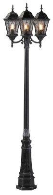 Уличный фонарь MarkSlojd 100296 VERAБольшие фонари<br>Обеспечение качественного уличного освещения – важная задача для владельцев коттеджей. Компания «Светодом» предлагает современные светильники, которые порадуют Вас отличным исполнением. В нашем каталоге представлена продукция известных производителей, пользующихся популярностью благодаря высокому качеству выпускаемых товаров.   Уличный светильник MarkSlojd 100296 не просто обеспечит качественное освещение, но и станет украшением Вашего участка. Модель выполнена из современных материалов и имеет влагозащитный корпус, благодаря которому ей не страшны осадки.   Купить уличный светильник MarkSlojd 100296, представленный в нашем каталоге, можно с помощью онлайн-формы для заказа. Чтобы задать имеющиеся вопросы, звоните нам по указанным телефонам.<br><br>Тип лампы: накаливания / энергосбережения / LED-светодиодная<br>Тип цоколя: E27<br>Количество ламп: 3<br>Ширина, мм: 600<br>MAX мощность ламп, Вт: 75<br>Высота, мм: 2350<br>Цвет арматуры: серый