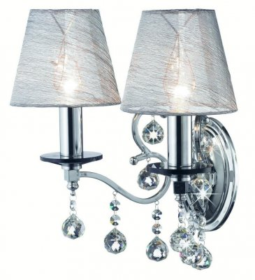 Бра MarkSlojd 102441 GRENSHOLMСовременные<br><br><br>S освещ. до, м2: 5<br>Тип лампы: накаливания / энергосбережения / LED-светодиодная<br>Тип цоколя: E14<br>Количество ламп: 2<br>Ширина, мм: 335<br>MAX мощность ламп, Вт: 40<br>Длина, мм: 250<br>Высота, мм: 340<br>Цвет арматуры: серебристый