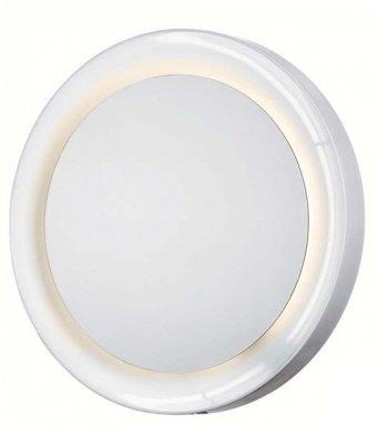 Светильник настенный MarkSlojd 102451 LINDOMEЗеркало с подсветкой <br><br><br>S освещ. до, м2: 4<br>Тип лампы: люминесцентная<br>Тип цоколя: T5<br>Цвет арматуры: белый<br>Количество ламп: 1<br>Ширина, мм: 650<br>Длина, мм: 650<br>Высота, мм: 75<br>MAX мощность ламп, Вт: 65
