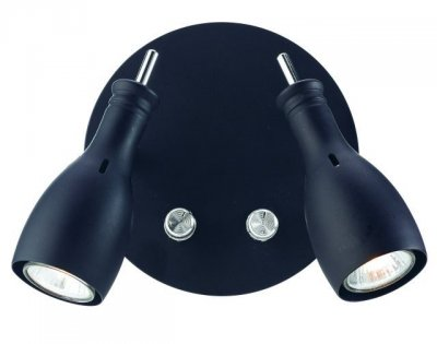 Бра MarkSlojd 102657 LAMMHULTХай-тек<br><br><br>S освещ. до, м2: 4<br>Тип лампы: галогенная / LED-светодиодная<br>Тип цоколя: GU10<br>Количество ламп: 2<br>Ширина, мм: 170<br>MAX мощность ламп, Вт: 35<br>Длина, мм: 130<br>Высота, мм: 150<br>Цвет арматуры: черный