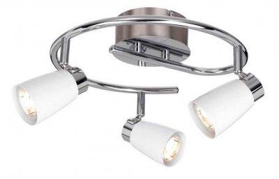 Светильник настенно-потолочный MarkSlojd 103051 VEDDIGEТройные<br>Светильники-споты – это оригинальные изделия с современным дизайном. Они позволяют не ограничивать свою фантазию при выборе освещения для интерьера. Такие модели обеспечивают достаточно качественный свет. Благодаря компактным размерам Вы можете использовать несколько спотов для одного помещения. <br>Интернет-магазин «Светодом» предлагает необычный светильник-спот MarkSlojd 103051 по привлекательной цене. Эта модель станет отличным дополнением к люстре, выполненной в том же стиле. Перед оформлением заказа изучите характеристики изделия. <br>Купить светильник-спот MarkSlojd 103051 в нашем онлайн-магазине Вы можете либо с помощью формы на сайте, либо по указанным выше телефонам. Обратите внимание, что у нас склады не только в Москве и Екатеринбурге, но и других городах России.<br><br>S освещ. до, м2: 1<br>Тип лампы: галогенная / LED-светодиодная<br>Тип цоколя: GU10<br>Цвет арматуры: серебристый<br>Количество ламп: 3<br>Ширина, мм: 350<br>Высота, мм: 190<br>MAX мощность ламп, Вт: 7