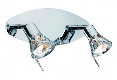 Светильник настенный MarkSlojd 103055 MONSTERASДвойные<br>Светильники-споты – это оригинальные изделия с современным дизайном. Они позволяют не ограничивать свою фантазию при выборе освещения для интерьера. Такие модели обеспечивают достаточно качественный свет. Благодаря компактным размерам Вы можете использовать несколько спотов для одного помещения.  Интернет-магазин «Светодом» предлагает необычный светильник-спот MarkSlojd 103055 по привлекательной цене. Эта модель станет отличным дополнением к люстре, выполненной в том же стиле. Перед оформлением заказа изучите характеристики изделия.  Купить светильник-спот MarkSlojd 103055 в нашем онлайн-магазине Вы можете либо с помощью формы на сайте, либо по указанным выше телефонам. Обратите внимание, что у нас склады не только в Москве и Екатеринбурге, но и других городах России.<br><br>S освещ. до, м2: 6<br>Тип лампы: галогенная / LED-светодиодная<br>Тип цоколя: GU10<br>Цвет арматуры: серебристый<br>Количество ламп: 2<br>Ширина, мм: 300<br>Высота, мм: 170<br>MAX мощность ламп, Вт: 7