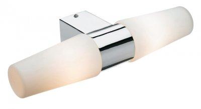 Светильник настенный MarkSlojd 103086 VALLINGE с розеткойДля ванной<br><br><br>S освещ. до, м2: 5<br>Тип лампы: накаливания / энергосбережения / LED-светодиодная<br>Тип цоколя: E14<br>Количество ламп: 2<br>Ширина, мм: 365<br>MAX мощность ламп, Вт: 40<br>Длина, мм: 145<br>Высота, мм: 78<br>Цвет арматуры: серебристый