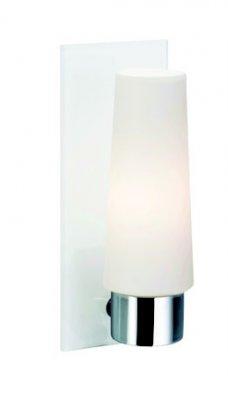 Светильник настенный MarkSlojd 104153 MANSTADДля ванной<br><br><br>S освещ. до, м2: 2<br>Тип лампы: накаливания / энергосбережения / LED-светодиодная<br>Тип цоколя: E14<br>Количество ламп: 1<br>Ширина, мм: 90<br>MAX мощность ламп, Вт: 40<br>Длина, мм: 115<br>Высота, мм: 230<br>Цвет арматуры: серебристый