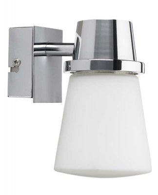 Светильник настенный MarkSlojd 104319 CORDOBAАрхив<br><br><br>S освещ. до, м2: 2<br>Тип лампы: накаливания / энергосбережения / LED-светодиодная<br>Тип цоколя: E14<br>Цвет арматуры: серебристый<br>Количество ламп: 1<br>Ширина, мм: 90<br>Длина, мм: 130<br>Высота, мм: 140<br>MAX мощность ламп, Вт: 40