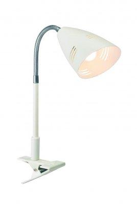 Настольная лампа MarkSlojd 197912 VEJLEНа прищепке<br>Настольная лампа – это не просто источник дополнительного освещения, но и оригинальный элемент декора. Его можно установить в спальне, гостиной, кабинете и других комнатах. Интернет-магазин «Светодом» предлагает настольные лампы разных стилей по доступным ценам. Благодаря большому ассортименту Вы обязательно найдете в нашем каталоге именно ту модель, которую искали.   Настольная лампа MarkSlojd 197912 – прекрасный вариант для завершения интерьера. Ее можно включить одновременно с люстрой для более яркого освещения или без нее для создания уютной атмосферы, настраивающей на отдых.   Купить настольную лампу MarkSlojd 197912 Вы можете с помощью виртуальной «Корзины» или по контактным номерам, указанным на сайте.<br><br>Тип лампы: накаливания / энергосбережения / LED-светодиодная<br>Цвет арматуры: белый