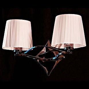 Светильник настенный бра Brizzi Matilde BB 03203/2 Chrome PinkКлассика<br><br><br>S освещ. до, м2: 8<br>Тип лампы: накал-я - энергосбер-я<br>Тип цоколя: E27<br>Количество ламп: 2<br>Ширина, мм: 420<br>MAX мощность ламп, Вт: 60<br>Размеры: W 420 H 280<br>Высота, мм: 280