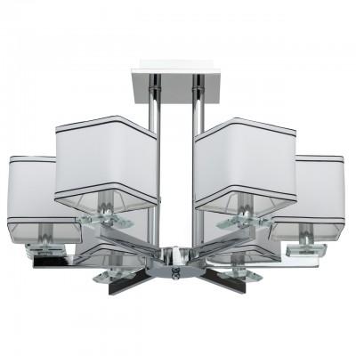 Mw light Наполи 686010306 ЛюстраПотолочные<br><br><br>Тип лампы: Накаливания / энергосбережения / светодиодная<br>Тип цоколя: E14<br>Цвет арматуры: Серебристый хром<br>Количество ламп: 6<br>Диаметр, мм мм: 700<br>Высота, мм: 450<br>Оттенок (цвет): белый<br>MAX мощность ламп, Вт: 40