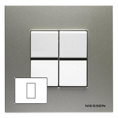 Рамка 1 модуль широкая шампань Zenit (Niessen) N2471 CVZenit (Niessen)<br><br><br>Оттенок (цвет): серебристый