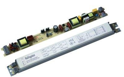 ЭПРА Navigator 94 453 NB-ETL-1/2x36-PDA1ЭПРА для ламп <br>Электронные диммируемые балласты Navigator предназначены для запуска,   работы и плавного изменения освещенности люминесцентных ламп T8   мощностью 18 и 36 Вт.  Электронные диммируемые балласты Navigator оснащены защитой от короткого   замыкания, защитой от перегрева, функцией автоматического отключения   при выходе лампы из строя, а также функцией предварительного прогрева   катодов лампы теплый пуск. Корпус балластов изготовлен из металла.      Универсальное исполнение – 1/2x36    Управление диммированием 1-10 В    Диапазон диммирования от 3 до 100% освещенности    Защита от короткого замыкания, перегрева,  автоматическое отключение при выходе     лампы из строя      Теплый пуск    Срок службы – 50 000 часов    Класс энергетической эффективности EEI=A1 BAT<br><br>Ширина, мм: 30<br>Длина, мм: 325<br>Высота, мм: 30