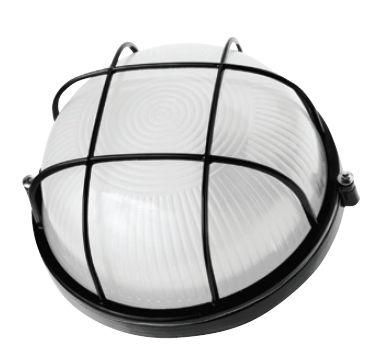 Светильник Navigator 94 812 черный с решеткойДля подъездов и саун<br>Влагозащищенные светильники типа NBL-R круглой формы предназначены для использования с лампами накаливания со стандартным цоколем Е27 и поставляются в двух типоразмерах – для ламп максимальной мощностью 60 Вт и 100 Вт и степенью защиты от воздействия окружающей среды IP54.<br><br>Тип лампы: накал-я - энергосб-я<br>Тип цоколя: E27<br>MAX мощность ламп, Вт: 60W<br>Диаметр, мм мм: 175<br>Расстояние от стены, мм: 85