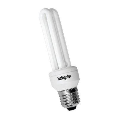 Лампа энергосберегающая Navigator 94 012 NCL-2U-11-840-E27Спираль 2U<br>Navigator NCL-2U – компактная энергосберегающая лампа. Колба лампы состоит из двух U образных люминесцентных трубок диаметром 9 мм. Лампа NCL-2U поставляется с двумя типоразмерами цоколя (E14 и E27), в трех цветовых температурах (2700K, 4200K, 6400K), трех мощностей (9Вт, 11Вт, 15Вт).<br><br>Цветовая t, К: CW - холодный белый 4000 К<br>Тип лампы: Энергосберегающая<br>Тип цоколя: E27<br>Диаметр, мм мм: 38<br>Высота, мм: 136<br>Оттенок (цвет): холодный белый свет<br>MAX мощность ламп, Вт: 11