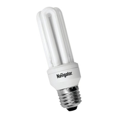 Лампа энергосберегающая Navigator 94 027 NCL-3U-15-840-E27Спираль 3U<br>Navigator NCL-3U – компактная энергосберегающая лампа. Колба лампы состоит из трех U-образных люминесцентных трубок диаметром 9мм. Лампа NCL-3U поставляется в трех цветовых температурах (2700K, 4200K, 6400K). Лампа NCL-3U 11Вт предлагается с двумя типоразмерами цоколя (E14 и E27). Лампа NCL-3U 15Вт и 20Вт только с цоколем E27.<br><br>Цветовая t, К: CW - холодный белый 4000 К<br>Тип лампы: Энергосберегающая<br>Тип цоколя: E27<br>Диаметр, мм мм: 38<br>Высота, мм: 126<br>Оттенок (цвет): холодный белый свет<br>MAX мощность ламп, Вт: 15
