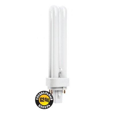 Лампа люминесцентная Navigator 94 076 NCL-PD-26-840-G24dКомпактные ЛЛ<br>Люминесцентные лампы NCL-PS и NCL-PD предназначены для работы с внешним пускорегулирующим аппаратом (ПРА). Лампы NCL-PS с двух-штырьковым цоколем G23 и лампы NCL-PD с двух-штырьковым цоколем G24d предназначены для использования с электромагнитными ПРА (ЭмПРА). Цоколи этих ламп содержат стартер и конденсатор для подавления электромагнитных помех. Лампы NCL-PD с четырех-штырьковым цоколем G24q предназначены для использования с электронными ПРА (ЭПРА). Особенностью компактных люминесцентных ламп Navigator для работы с внешним ПРА являются высокая светоотдача и качество света (индекс цветопередачи Ra gt; 82). Лампы NCL-PS предлагаются в двух цветовых температурах: холодный белый свет (4000К) и дневной белый свет (6500К). Лампы NCL-PD предлагаются в цветовой температуре холодного белого света (4000K).  Срок службы ламп Navigator NCL-PS и NCL-PD составляет 10 000 часов. Диаметр люминесцентной трубки - 12 мм.<br><br>Цветовая t, К: CW - холодный белый 4000 К<br>Тип лампы: Энергосберегающая<br>Тип цоколя: G24d<br>MAX мощность ламп, Вт: 26<br>Диаметр, мм мм: 34<br>Высота, мм: 183<br>Оттенок (цвет): холодный белый свет