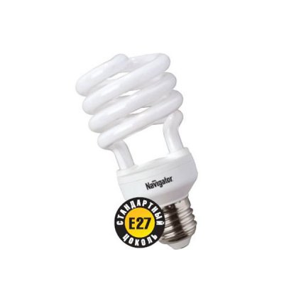 Лампа энергосберегающая Navigator 94 051 NCL-SH-20-840-E27Спиральные<br>Navigator NCL-SH10 – компактная люминесцентная энергосберегающая лампа. Колба новой лампы NCL-SH10 15 Вт представляет собой полуспираль, изготовленную из люминесцентной трубки диаметром 7 мм (T2), трубки диаметром 9 мм в лампах мощностью 20 Вт и 25 Вт, 12 мм в лампах мощностью 30 Вт. При изготовлении трубки используется высококачественный трехполосный люминофор, что обеспечивает превосходное качество света и высокую светоотдачу ламп. Лампа NCL-SH10 15 Вт поставляется в трех цветовых температурах: 2700 К, 4000 К, 6500 K с двумя типоразмерами цоколя: Е14 и Е27. Лампы NCL-SH10 20Вт, 25Вт, 30Вт поставляется со стандартным цоколем E27.  Лампы Navigator NCL-SH10 не предназначены для использования с регуляторами светового потока (диммерами).  Срок службы ламп NCL-SH10 составляет 10000 часов.<br><br>Цветовая t, К: CW - холодный белый 4000 К<br>Тип лампы: Энергосберегающая<br>Тип цоколя: E27<br>MAX мощность ламп, Вт: 20<br>Диаметр, мм мм: 55<br>Высота, мм: 115