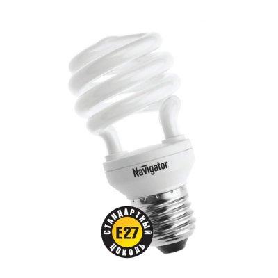 Лампа энергосберегающая Navigator 94 048 NCL-SH10-15-840-E27Спиральные<br>Navigator NCL-SH10 – компактная люминесцентная энергосберегающая лампа. Колба новой лампы NCL-SH10 15 Вт представляет собой полуспираль, изготовленную из люминесцентной трубки диаметром 7 мм (T2), трубки диаметром 9 мм в лампах мощностью 20 Вт и 25 Вт, 12 мм в лампах мощностью 30 Вт. При изготовлении трубки используется высококачественный трехполосный люминофор, что обеспечивает превосходное качество света и высокую светоотдачу ламп. Лампа NCL-SH10 15 Вт поставляется в трех цветовых температурах: 2700 К, 4000 К, 6500 K с двумя типоразмерами цоколя: Е14 и Е27. Лампы NCL-SH10 20Вт, 25Вт, 30Вт поставляется со стандартным цоколем E27.  Лампы Navigator NCL-SH10 не предназначены для использования с регуляторами светового потока (диммерами).  Срок службы ламп NCL-SH10 составляет 10000 часов.<br><br>Цветовая t, К: CW - холодный белый 4000 К<br>Тип лампы: Энергосберегающая<br>Тип цоколя: E27<br>MAX мощность ламп, Вт: 15<br>Диаметр, мм мм: 48<br>Высота, мм: 98