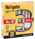 Лампа энергосберегающая Navigator 94 410 NCL6-SH-20-827-E27/3PACKСпиральные<br>Navigator NCL8-SH и NCL8-SF – компактные энергосберегающие лампы. Колбы ламп представляют собой полную спираль и полуспираль, изготовленные из люминесцентных трубок диаметром 7 и 10.3 мм. Лампы NCL8 представлены в двух цветовых температурах (2700 K, 4000 K). Лампа NCL8-SF 11 Вт предлагается с двумя типоразмерами цоколя (E14 и E27). Лампы NCL8-SH 15 Вт и NCL8-SH 20 Вт только с цоколем E27. Срок службы ламп NCL8 составляет 8000 часов. Лампы NCL8 в яркой упаковке 3 в 1 являются промо- позициями энергосберегающих ламп Navigator. Лампы Navigator NCL8 лучше всего подходят для привлечения внимания покупателей и увеличения доли продаж энергосберегающих ламп в сетевой розничной торговле.<br><br>Цветовая t, К: WW - теплый белый 2700-3000 К<br>Тип лампы: Энергосберегающая<br>Тип цоколя: E27<br>MAX мощность ламп, Вт: 20<br>Диаметр, мм мм: 46<br>Высота, мм: 121