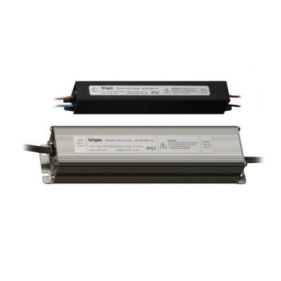 Драйвер Navigator 71 474 ND-P150-IP67-12VБлоки питания<br>Драйверы Navigator ND-P-IP67 — источники постоянного напряжения 12 В профессиональной серии со степенью защиты от пыли и влаги IP67. Драйверы ND-P-IP67 производятся в неразборном металлическом корпусе. Драйверы ND-P-IP67 оснащены проводами для подключения кабеля питания и нагрузки.<br><br> Драйверы ND-P-IP67 работают в широком диапазоне входного напряжения 160 — 256 В и при этом обеспечивают коэффициент мощности до 0.92. Модели P100-P150 оснащены двумя выходными каналами. Драйверы Navigator ND-P-IP67 обеспечивают длительную и стабильную работу источников света на основе светодиодов и оснащены защитой от короткого замыкания, от перегрузки, от перегрева и от выхода компонентов из строя. Срок службы драйверов составляет более 30 000 часов.<br><br> Описание  Прочный алюминиевый корпус*, продуманная система охлаждения.  Предназначены для использования в местах с повышенными требованиями электробезопасности (ванная комната, улица).  Перед выпуском с завода все блоки питания проходят обязательные испытания.<br>  Технические характеристики <br>Выходное напряжение (постоянное) 12 ВДиапазон входного напряжения (переменное) 220 - 240 В, 50 ГцЗависимость выходной мощности (%)от рабочей температуры 100% - от 0 до +40°С, 80% - при -10°С, 60% - при 50°СКПД (коэффициент полезного действия)  75%<br><br>Ширина, мм: 74<br>MAX мощность ламп, Вт: 150<br>Длина, мм: 225<br>Высота, мм: 54