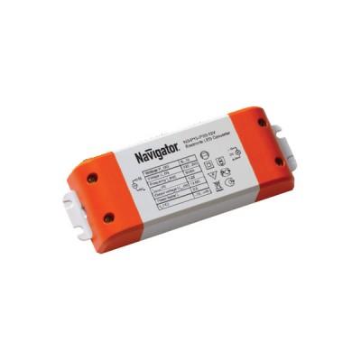 Драйвер Navigator 71 461 ND-P30-IP20-12VБлоки питания<br>Драйверы Navigator ND-P-IP20 — источники постоянного напряжения 12 В профессиональной серии со степенью защиты от пыли и влаги IP20. Драйверы ND-P-IP20 оснащены терминалом для подключения кабеля питания и нагрузки. Драйверы ND-P-IP20 работают в широком диапазоне входного напряжения 100 — 260 В и при этом обеспечивают коэффициент мощности до 0.95.<br><br> Модели P60 — P350 оснащены регулятором напряжения, что позволяет регулировать данный параметр на выходе. Модели P120—P200 оснащены двумя выходными каналами, модель P350 — тремя. Драйверы Navigator ND-P-IP20 обеспечивают длительную и стабильную работу источников света на основе светодиодов и оснащены защитой от короткого замыкания, от перегрузки, от перегрева и от выхода компонентов из строя. Срок службы драйверов составляет более 30 000 часов.<br><br>Ширина, мм: 52<br>MAX мощность ламп, Вт: 30<br>Длина, мм: 166<br>Высота, мм: 24