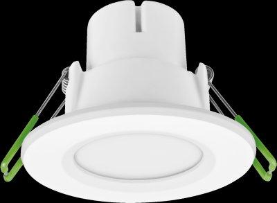 Светильник Navigator 94 820 NDL-P1-5W-830-WH-LEDКруглые LED<br>Встраиваемый светодиодный энергосберегающий светильник типа Downlight (направленного света) NDL-LED cоздает яркий направленный и равномерный свет, что делает его идеальным решением любых задач по освещению. Предназначен для освещения внутренних пространств в жилых, офисных и коммерческих помещениях. Степень защиты IP44 позволяет использовать светильник в помещениях с повышенной влажностью (в ванных комнатах, для подсветки кухонных рабочих поверхностей и проч.) В светодиодных светильниках NDL-LED применяется отражатель параболической формы, что обеспечивает направленное распределение света в угле 90°. В светодиодных светильниках NDL-LED применяются высокоэффективные планарные светодиоды Epistar, обеспечивающие эффективность до 80 лм/Вт. При этом коэффициент цветопередачи светильника обеспечивается на уровне Ragt 82. Срок службы 40 000 часов. Предоставляется гарантия 3 года.<br><br>S освещ. до, м2: 3<br>Цветовая t, К: 3000<br>Тип лампы: LED-светодиодная<br>MAX мощность ламп, Вт: 5<br>Диаметр, мм мм: 83<br>Диаметр врезного отверстия, мм: 53-70<br>Высота, мм: 58<br>Цвет арматуры: белый