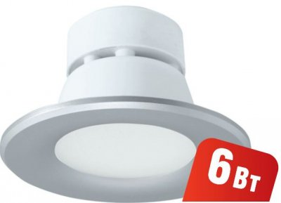 Светильник Navigator 94 834 NDL-P1-6W-830-SL-LEDСветодиодные круглые светильники<br>Встраиваемый светодиодный энергосберегающий светильник типа Downlight (направленного света) NDL-LED cоздает яркий направленный и равномерный свет, что делает его идеальным решением любых задач по освещению. Предназначен для освещения внутренних пространств в жилых, офисных и коммерческих помещениях. Степень защиты IP44 позволяет использовать светильник в помещениях с повышенной влажностью (в ванных комнатах, для подсветки кухонных рабочих поверхностей и проч.) В светодиодных светильниках NDL-LED применяется отражатель параболической формы, что обеспечивает направленное распределение света в угле 90°. В светодиодных светильниках NDL-LED применяются высокоэффективные планарные светодиоды Epistar, обеспечивающие эффективность до 80 лм/Вт. При этом коэффициент цветопередачи светильника обеспечивается на уровне Ragt 82. Срок службы 40 000 часов. Предоставляется гарантия 3 года.<br><br>S освещ. до, м2: 3<br>Цветовая t, К: 4000<br>Тип лампы: LED-светодиодная<br>Цвет арматуры: серебристый<br>Диаметр, мм мм: 100<br>Диаметр врезного отверстия, мм: 90<br>Высота, мм: 70<br>MAX мощность ламп, Вт: 6