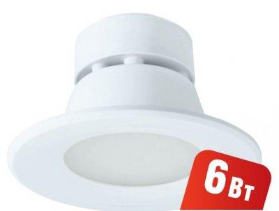 Светильник Navigator 94 899 NDL-P1-6W-830-WH-LEDКруглые LED<br>Встраиваемый светодиодный энергосберегающий светильник типа Downlight (направленного света) NDL-LED cоздает яркий направленный и равномерный свет, что делает его идеальным решением любых задач по освещению. Предназначен для освещения внутренних пространств в жилых, офисных и коммерческих помещениях. Степень защиты IP44 позволяет использовать светильник в помещениях с повышенной влажностью (в ванных комнатах, для подсветки кухонных рабочих поверхностей и проч.) В светодиодных светильниках NDL-LED применяется отражатель параболической формы, что обеспечивает направленное распределение света в угле 90°. В светодиодных светильниках NDL-LED применяются высокоэффективные планарные светодиоды Epistar, обеспечивающие эффективность до 80 лм/Вт. При этом коэффициент цветопередачи светильника обеспечивается на уровне Ragt; 82.  Срок службы 40 000 часов. Предоставляется гарантия 3 года.<br><br>S освещ. до, м2: 3<br>Цветовая t, К: 3000<br>Тип лампы: LED-светодиодная<br>MAX мощность ламп, Вт: 6<br>Диаметр, мм мм: 100<br>Диаметр врезного отверстия, мм: 80-90<br>Высота, мм: 70<br>Цвет арматуры: белый