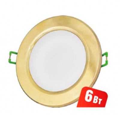 Светильник Navigator 71 371 NDL-R1-6W-840-GD-GX53-LEDКруглые<br>Ультратонкий встраиваемый светодиодный энергосберегающийсветильник типа GX53. Создает яркий направленный и равномерныйсвет, что делает его идеальным решением любых задач по освещению.<br>Основные преимущества <br><br>Эффективные и надежные светодиоды EPISTAR(Тайвань) Ragt;80; 75 Лм/Вт<br>Корпус из композитного материала с декоративным кольцом из металла или пластика<br>Матовый рассеиватель<br>Отсутствие мерцания и пульсаций светового потока<br>Надежный драйвер с высоким КПД (PFgt;0.5)<br>Стандартные размер и крепление, установочная высота всего 36 мм<br>Идеальное решение для подвесных и натяжных потолков, мебели и других конструкций<br>Диапазон рабочих температур окружающей среды от -30 до +40<br>Срок службы 40 000 часов<br>Гарантия 3 года<br>