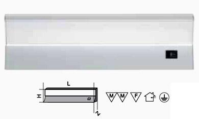 Светильник люминесцентный Navigator 94 563 - светильник полкаДля кухни<br>Люминесцентные компактные светильники NEL-F2 предназначены для дополнительного освещения в жилых, офисных и коммерческих помещениях.<br>  Удобны для подсветки встроенных шкафов и гардеробных комнат, кухонных гарнитуров и зеркал, а также витрин и прилавков в магазинах. Корпус светильника NEL-F2 изготовлен из листового алюминия, выполнен в матовом серебристом цвете. Рассеиватель изготовлен из молочно-белого акрила (полиметилметакрилат). Материалы, из которых изготовлен светильник, не поддерживают горение.<br>  Светильник предназначен для работы от сетевого напряжения 220 – 240 В с частотой 50/60 Гц. Диапазон рабочих температур окружающей среды светильника от 0°C до 45°C. Светильники серии NEL-F2 с закрытой лампой (с рассеивателем), встроенным ЭПРА и кнопкой включения/выключения на корпусе, комплектуются:• лампой люминесцентной Т5 (индекс цветопередачи Ra gt; 82) • колодкой для подключения к стационарной проводке • крепежом для присоединения светильника к вертикальной или горизонтальной поверхности.<br><br>S освещ. до, м2: 2<br>Тип товара: Светильник люминесцентный<br>Цветовая t, К: 4200<br>Тип лампы: люминесцентная<br>Тип цоколя: G5<br>Количество ламп: 1<br>Ширина, мм: 95<br>MAX мощность ламп, Вт: 21<br>Длина, мм: 878<br>Высота, мм: 46<br>Цвет арматуры: белый
