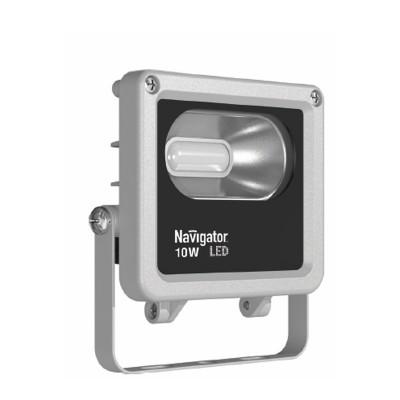 Светильник Navigator 71 313 NFL-M-10-6K-IP65-LEDCветодиодные<br>Светодиодные прожекторы NFL-M-LED являются энергоэффективным аналогом стандартных галогенных прожекторов. <br>Основные преимущества: <br><br>Обладает<br> степенью защиты от пыли и влаги IP65, подходит как для внутреннего, так<br> и для наружного использования. Предназначен для освещения фасадов <br>зданий, внутренних дворов, садов, оград, гаражей, складских помещений, <br>рекламных стендов, вывесок, витрин и проч.;<br>Компактный алюминиевый корпус с увеличенной площадью рассеивания;<br>Специальный матовый рассеиватель закрывающий светодиоды, снижает уровень слепимости;<br>Алюминиевый рефлектор обеспечивает мощный направленный свет;<br>Коэффициент цветопередачи Ra gt; 75;<br>Надёжный драйвер с коэффициентом мощности gt; 0.9;<br>Отсутствие мерцания и пульсаций светового потока;<br>Широкий диапазон рабочих температур (от -30 до + 40 °С);<br>Широкий диапазон рабочих напряжений (от 165 до 265В);<br>Удобство монтажа;<br>Срок службы более 30 000 часов.<br>Гарантия 2 года<br><br>Цветовая t, К: 6000<br>Тип лампы: LED<br>Тип цоколя: LED<br>Ширина, мм: 120<br>MAX мощность ламп, Вт: 10<br>Длина, мм: 47<br>Высота, мм: 134