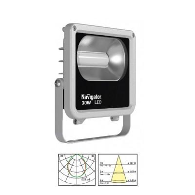 Светильник Navigator 71 317 NFL-M-30-6K-IP65-LEDCветодиодные<br>Светодиодные прожекторы NFL-M-LED являются энергоэффективным аналогом стандартных галогенных прожекторов.  <br>Основные преимущества:<br><br>Обладает<br> степенью защиты от пыли и влаги IP65, подходит как для внутреннего, так<br> и для наружного использования. Предназначен для освещения фасадов <br>зданий, внутренних дворов, садов, оград, гаражей, складских помещений, <br>рекламных стендов, вывесок, витрин и проч.;<br>Компактный алюминиевый корпус с увеличенной площадью рассеивания;<br>Специальный матовый рассеиватель закрывающий светодиоды, снижает уровень слепимости;<br>Алюминиевый рефлектор обеспечивает мощный направленный свет;<br>Коэффициент цветопередачи Ra gt; 75;<br>Надёжный драйвер с коэффициентом мощности gt; 0.9;<br>Отсутствие мерцания и пульсаций светового потока;<br>Широкий диапазон рабочих температур (от -30 до + 40 °С);<br>Широкий диапазон рабочих напряжений (от 165 до 265В);<br>Удобство монтажа;<br>Срок службы более 30 000 часов.<br>Гарантия 2 года<br><br>Тип товара: Светильник<br>Цветовая t, К: 6000<br>Тип лампы: LED<br>Тип цоколя: LED<br>Ширина, мм: 176<br>MAX мощность ламп, Вт: 30<br>Длина, мм: 55<br>Высота, мм: 197