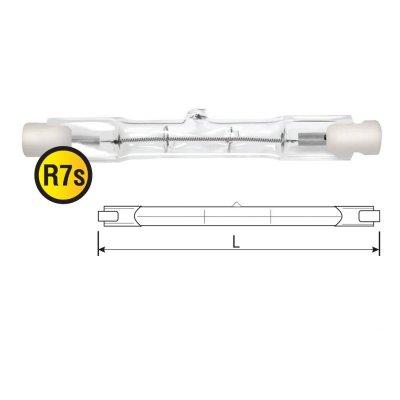 Лампа галогенная Navigator 94 235 NH-J333-2000-230-R7sЛинейные r7s<br>Navigator NH-J галогенная линейная лампа. Лампа обеспечивает возможность эксплуатации от сетевого напряжения 220-240 вольт без использования понижающего трансформатора. Колба лампы изготовлена из прозрачного кварцевого стекла с добавками, экранирующими УФ-излучение. Лампа NH-J имеет два цоколя R7s, и предлагается в трех типоразмерах: 78 мм, 117 мм, 189 мм. Цветовая температура излучаемого света около 2900К. Средний срок службы – 1500 часов. Галогенные линейные лампы большой мощности применяются в прожекторах заливающего наружного освещения, а лампы менее мощные используются в современных торшерах, настенных светильниках внутреннего освещения.<br><br>Тип лампы: галогенная<br>Тип цоколя: R7s<br>MAX мощность ламп, Вт: 2000<br>Высота, мм: 333