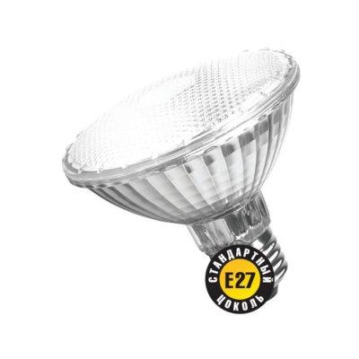 Лампа галогенная Navigator 94 230 PAR30 100W E27 230V 2000hС отражателем<br>Navigator NH-PAR20, NH-PAR30 - галогенные лампы с алюминиевым отражателем и защитным стеклом. Обеспечивают возможность эксплуатации от сетевого напряжения 220-240 вольт без использования понижающего трансформатора.  Колба лампы изготовлена из кварцевого стекла с добавками, экранирующими УФ-излучение. Защитное стекло обеспечивает безопасность эксплуатации лампы, предохраняя внутреннюю капсулу и отражатель от попадания пыли.  Лампа NH-PAR20 – с отражателем диаметром 64мм и цоколем Е27.  Лампа NH-PAR30 – с отражателем диаметром 95мм и цоколем Е27.  Цветовая температура излучаемого света около 3000К.  Средний срок службы – 2000 часов.<br><br>Тип лампы: галогенная<br>Тип цоколя: E27<br>MAX мощность ламп, Вт: 100<br>Диаметр, мм мм: 95