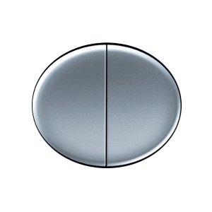 Клавиша для 2-х клавишных выключателей и кнопок серебро Tacto (ABB) [NIE 5511 PL] 5511 PLTacto (Niessen)<br><br><br>Оттенок (цвет): серебристый
