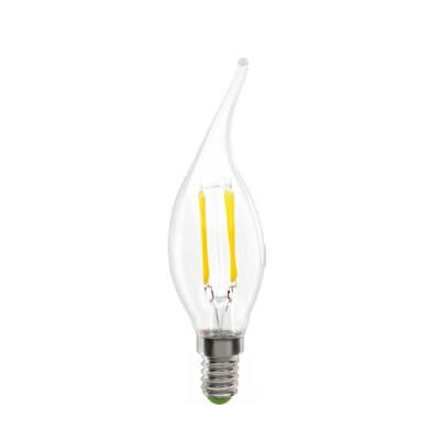 Лампа Navigator 71 308 NLL-F-FC35-4-230-2.7K-E14Ретро стиля<br>Navigator NLL-F – светодиодная энергосберегающая лампа общего и декоративного освещения. Лампы NLL-F повторяют форму и размеры ламп накаливания «груша», «шарик», «свеча», «витая свеча», «свеча на ветру», и идеально подходят к любому светильнику, в котором используются данные типы ламп. В светодиодных лампах серии NLL-F применяются высокоэффективные светодиоды COB Epistar, обеспечивающие эффективность до 100 лм/ Вт. При этом коэффициент цветопередачи ламп обеспечивается на уровне Ragt;80. Отсутствует мерцание и пульсация светового потока. Светодиодные модули COB FILAMENT, применяемые в данной серии ламп, изготовлены на базе сапфировых и медных подложек, что обеспечивает высокую стабильность светового потока. Специальная конструкция лампы обеспечивает угол рассеивания света до 360°. Ассортимент светодиодных ламп серии NLL-F представлен цветовой температурой излучаемого света – 2700 К. В лампах данной серии применяется высокоэффективный драйвер, построенный на интегральной микросхеме, обеспечивающий стабильную работу при широком диапазоне входных напряжений (176–264 В) без пульсаций светового потока. Диапазон рабочих температур окружающей среды от -40 до +40 ?С.<br>Срок службы светодиодных ламп Navigator NLL-F составляет 30 000 часов.<br><br>Цветовая t, К: WW - теплый белый 2700-3000 К<br>Тип лампы: LED - светодиодная<br>Тип цоколя: E14<br>MAX мощность ламп, Вт: 4<br>Диаметр, мм мм: 35<br>Высота, мм: 120