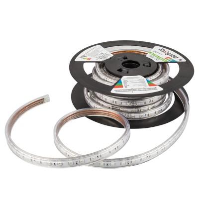 СД Лента Navigator 71 776 NLS-5050RGB60-14.4-IP67-220V R20Лента 5050<br>Особенности эксплуатации  <br><br>Светодиодную<br> ленту можно разрезать кратно минимальному отрезку в 1 м.  Лента режется<br> строго посередине отрезка по специально нанесенному контуру.<br>Для<br> соединения нескольких отрезков ленты или для создания сложных световых <br> инсталляций используются коннекторы т.м. Navigator серии <br>NLSC-connector-220.<br>Монтаж ленты на несущую поверхность обеспечивается с помощью  специальных скоб т.м. Navigator серии NLSC-clip-220.<br>Для<br> обеспечения работы светодиодной ленты NLS-3528 и NLS-2835 необходимо  <br>использовать преобразователь сетевого напряжения NLS-power <br>cord-3528-220.<br>Для обеспечения работы светодиодной ленты NLS-5050RGB используется  контроллер RGB со встроенным источником питания 220В.<br>Для диммирования (изменения яркости) и создания динамических сцен  необходимо использовать контроллеры Navigator.<br>Лента может применяться в диапазоне рабочих температур от -25 до +50°С.<br>Отсутствие мерцания и пульсации светового потока.<br>Срок службы светодиодной ленты 50 000 часов.<br>Светодиодные<br> ленты Navigator NLS-220 рассчитаны на питание от сети 220 В,  что <br>позволяет наращивать длину ленты до нескольких десятков метров.<br>Высокая степень защиты от пыли и влаги IP67 позволяет использовать ленту  в сложных климатических условиях.  <br><br><br> Применение светодиодной ленты Navigator NLS-220V     <br><br>Рекламная подсветка<br>Подсветка в рекламе букв и знаков<br>Световой дизайн фасадов зданий<br>Изготовление световых коробов и конструкций<br>Архитектурная подсветка<br>Oформление витрин<br>Новогоднее оформление<br>Аквариумная подсветка<br>Подсветка контуров, ступеней, арок, дорожек<br>Подсветка бассейнов<br><br>Цветовая t, К: RGB - многоцветный<br>Тип лампы: LED - светодиодная<br>Количество ламп: 60LED/м<br>MAX мощность ламп, Вт: 14.4W/метр