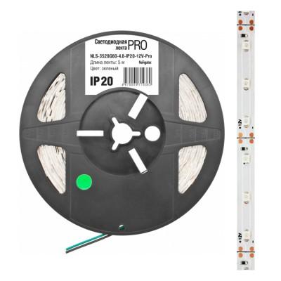 СД Лента Navigator 71 708 NLS-3528WW120-9.6-IP65-12V-Pro R5Лента 3528<br>Светодиодная лента (NLS-PRO) — универсальный источник света, <br>позволяющий создавать профессиональные световые решения при интерьерном и<br> наружном применении.    Лента легко крепится к различным <br>поверхностям, а благодаря гибкости и отсутствию нагрева во время работы <br>ей можно декорировать  разнообразные конструкции и предметы, при этом <br>светодиодную  ленту можно резать на участки необходимой длины.  <br>Применение<br><br> Интерьерное освещение<br> Подсветка ниш подвесных потолков<br> Закарнизная подсветка<br> Освещение рабочих поверхностей<br> Подсветка контуров ступеней,  арок, подоконников, дорожек<br> Мебельная подсветка<br>Аквариумная подсветка<br> Рекламная подсветка<br>Подсветка в рекламе  букв и знаков<br> Изготовление световых коробов<br> Архитектурная подсветка<br> Световой дизайн фасадов<br> Оформление витрин<br> Новогоднее оформление<br> Автомобильный тюнинг<br><br><br>Особенности эксплуатации<br><br>Светодиодную<br> ленту можно разрезать кратно минимальному  отрезку 25, 50, 100 или 150 <br>мм (в зависимос ти от модели). Лента режется по специальным нанесенным <br>линиям.<br>При подключении необходимо соблюдать полярность, которая указана на ленте и источнике питания.<br>При<br> подключении к одному каналу источника питания более 5 м светодиодной <br>ленты, рекомендуется каждые последующие  5 м подключать параллельно.<br>При<br> необходимости создания сложных световых инсталляций рекомендуется <br>использовать гибкие коннекторы Navigator, т.к. недопустимо подвергать <br>ленту изломам и механическим деформациям.<br>Для диммирования (изменения яркости) и создания динамических сцен необходимо использовать контроллеры Navigator.<br>При необходимости применения светодидной ленты на улице необходимо использовать ленту со степенью защиты от влаги и пыли IP65.<br>Диапазон рабочих температур окружающей среды от -40 до +40 ?С;<br>Подбор<br> мощности источника питания осуществляе