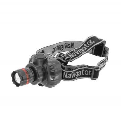 Фонарь налобный Navigator 94 950 NPT-H03-3AAAНалобные<br>Надежные налобные фонари. Яркие, долговечные и экономичные. Срок службы светодиодов – до 100 000 часов. Идеально подходят для работы и активного отдыха. Все фонари оснащены регулируемым удобным креплением. Индивидуальная упаковка – блистер с цветным вкладышем. NPT-H01 имеет четыре режима работы: три уровня яркости и режим мерцания. NPT-H02 – налобный фонарь с 1 светодиодом мощностью 1 Вт. Три режима работы: два уровня яркости и режим мерцания. NPT-H03 – фонарь с функцией фокусировки светового луча. В фонаре установлен 1 светодиод мощностью 1 Вт. Три режима работы: два уровня яркости и режим мерцания. NPT-H04 и NPT-H05 имеют четыре режима работы: 3 уровня яркости и мерцание. Фонарь NPT-H04 – 1/3/7 LED +мерцание, фонарь NPT-H05 – 1/3/19 LED + мерцание. Индивидуальная упаковка – блистер с цветным вкладышем. <br>Элементы питания в комплект не входят!!!<br><br>Количество ламп: 1 Led<br>Ширина, мм: 69<br>Длина, мм: 86