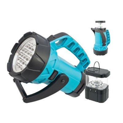Фонарь Navigator 94 934 NPT-SP01-ACCU Прож/кем 19+мини19 (7+12)LED, ак.3.7В 2,2Аккумуляторные<br>Многофункциональный аккумуляторный фонарь «два в одном». Срок службы светодиодов – до 100 000 часов. Подзарядка осуществляется от сети 220 В, а также бортовой сети автомобиля. Фонарь имеет функции индикации заряда и защиты от полного разряда аккумулятора. Фонарь- прожектор 19 LED оснащен выносным мини-фонарем типа «кемпинг» с ручкой для подвешивания и двумя режимами работы: 7 LED и 19 LED, который может использоваться отдельно или фиксироваться в корпусе основного прожектора. Фонарь комплектуется ременем для переноски. Установлен литий-ионный аккумулятор 3.7 В, 2.2 Ач. Индивидуальная упаковка – цветная глянцевая коробка.<br><br>Количество ламп: 19 Led<br>Ширина, мм: 130<br>Длина, мм: 230<br>Расстояние от стены, мм: 141<br>Высота, мм: 178