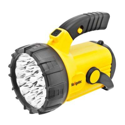 Фонарь кемпинговый Navigator 94 961 NPT-SP07-3D на батарейкахКемпинговые<br>Многофункциональные светодиодные фонари с поворотной ручкой, подставкой и ремнем для переноски. Срок службы светодиодов – до 100 000 часов. Четыре режима работы: два уровня яркости прожектора (9 LED и 23 LED), 18 LED в плафоне, красный сигнальный маячок (аварийный сигнал) у модели NPT-SP06 и мерцание прожектора у NPT-SP07. В модели NPT-SP06-ACCU установлен свинцово-кислотный аккумулятор 4 В, 2 Ач. Подзарядка осуществляется от сети 220 В и бортовой сети автомобиля. Фонарь работает до 15 часов без подзарядки (в режиме прожектора 9 LED), при полностью заряженном аккумуляторе. Модель NPT-SP07-3D работает от 3 элементов питания типа D*. Индивидуальная упаковка – цветная глянцевая коробка.<br><br>Количество ламп: 23 Led + 18 Led<br>Ширина, мм: 153<br>Длина, мм: 196<br>Высота, мм: 160