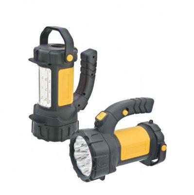 Фонарик кемпинговый Navigator 94 944 NPT-SP11-3AA на батарейкахКемпинговые<br>Компактный светодиодный фонарь-прожектор с поворотной ручкой и ручкой для переноски в режиме кемпингового фонаря. Срок службы светодиодов – до 100 000 часов. Комплектуется ремнем для переноски. Три режима работы: два уровня яркости прожектора (5 LED и 15 LED), 12 LED в плафоне. Индивидуальная упаковка – цветная глянцевая коробка.<br><br>Тип товара: Фонарик прожектор кемпинговый LED<br>Количество ламп: 15 Led + 12 Led<br>Ширина, мм: 135<br>Длина, мм: 170<br>Высота, мм: 140
